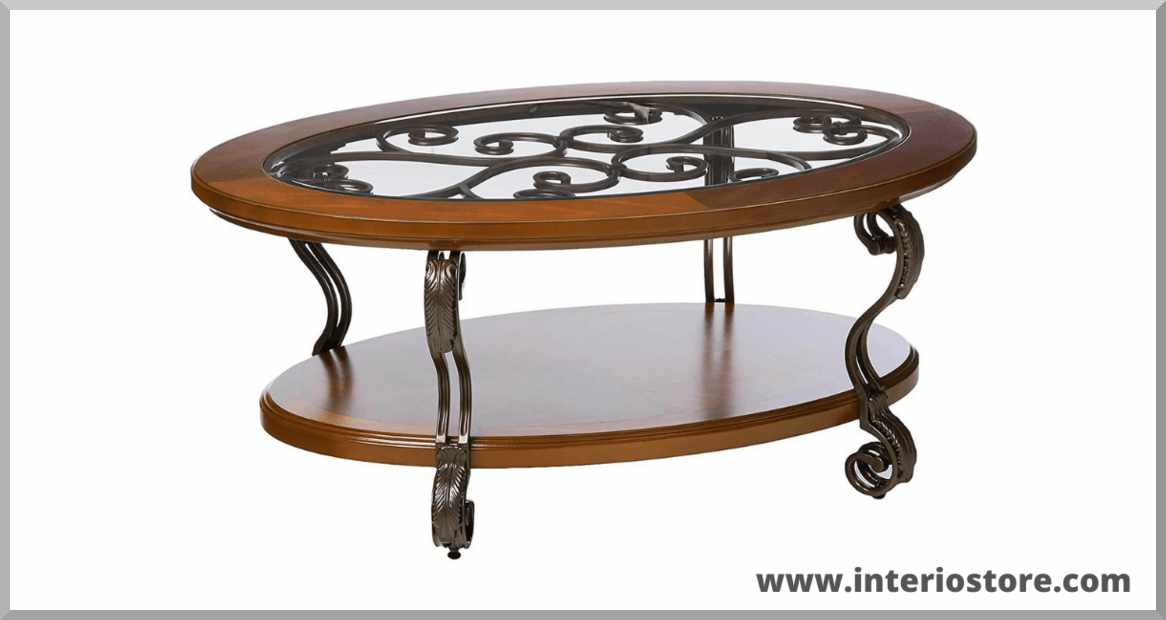 Best-oval-wood-coffee-table-for-living-room